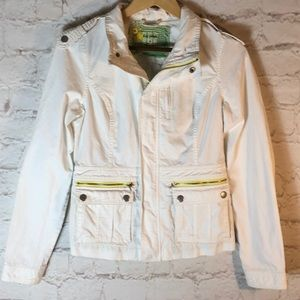 FREE PEOPLE WHITE LIGHTWEIGHT CORDUROY JACKET